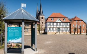 In Derenburg wurde der neue Pavillon direkt am Marktplatz errichtet.