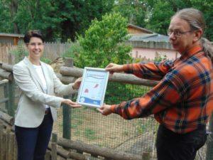 """Zoo Aschersleben als """"KinderFerienLand Harz"""" ausgezeichnet"""