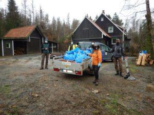 Müllsammelaktion der Geocacher im Nationalpark Harz