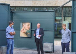 """Ausstellung """"Haut, Stein"""" auf dem Nikolaiplatz in Nordhausen"""