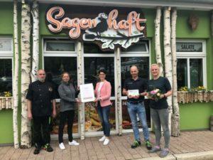 """Restaurant """"Sagenhaft"""" erhält """"Typisch Harz"""" - Auszeichnung"""
